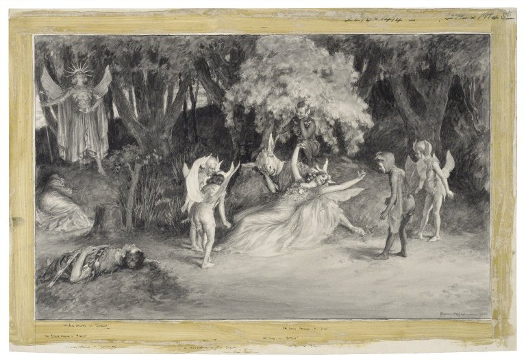 Titania about to wake and see Bottom (Act 3, scene 1; 1900)