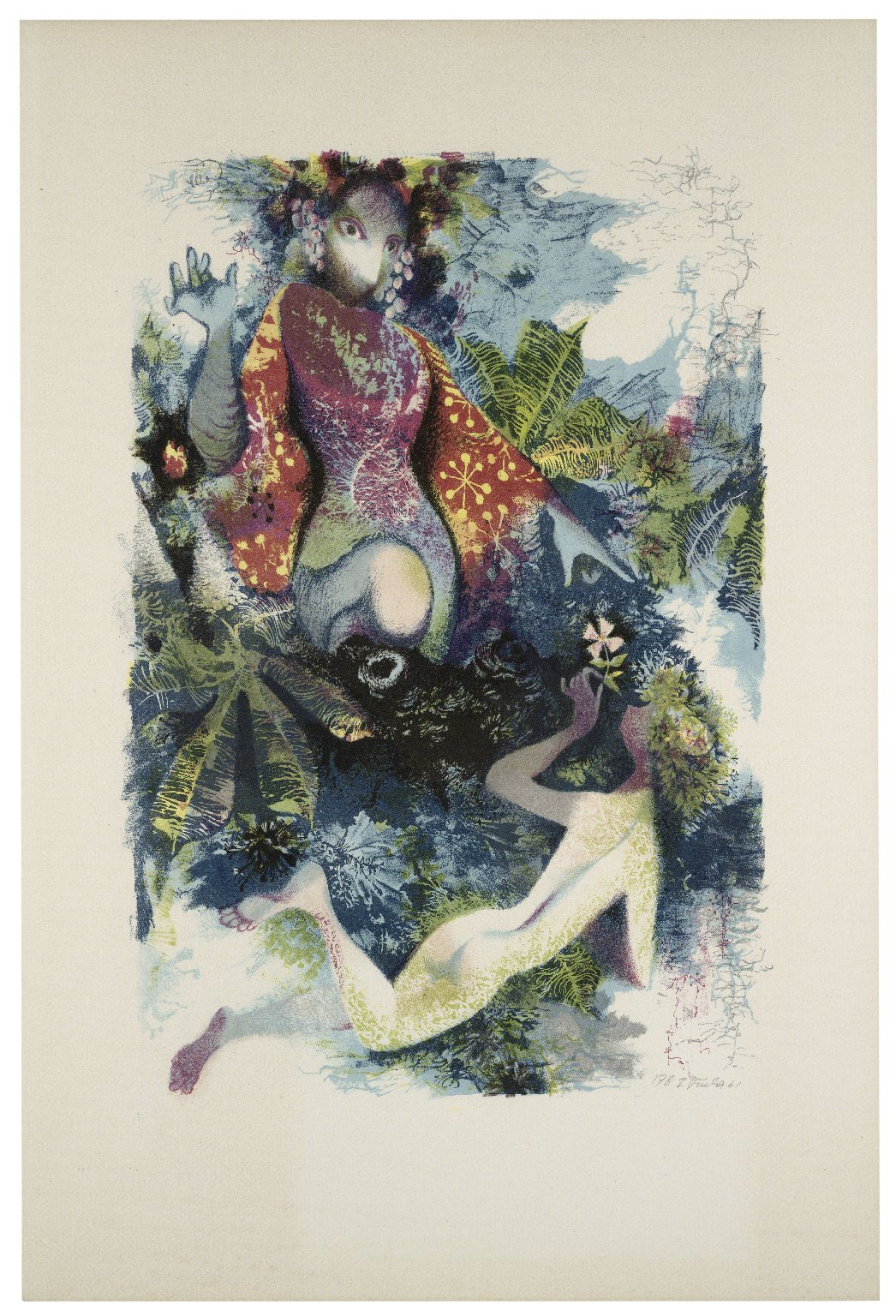 Midsummer Night's Dream lithograph by Jiří Trnka, 1961