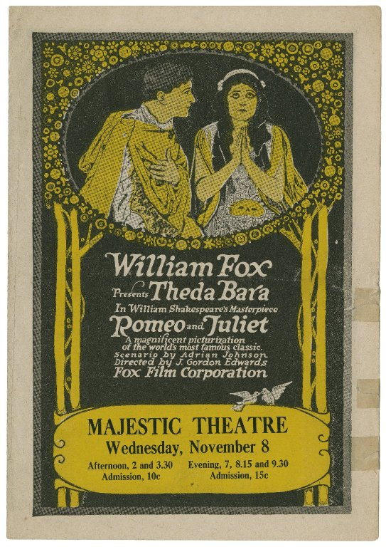 program for Theda Bara in Romeo and Juliet