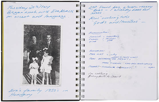 Lynn Redgrave's character journal for the film Gods and Monsters (1998)