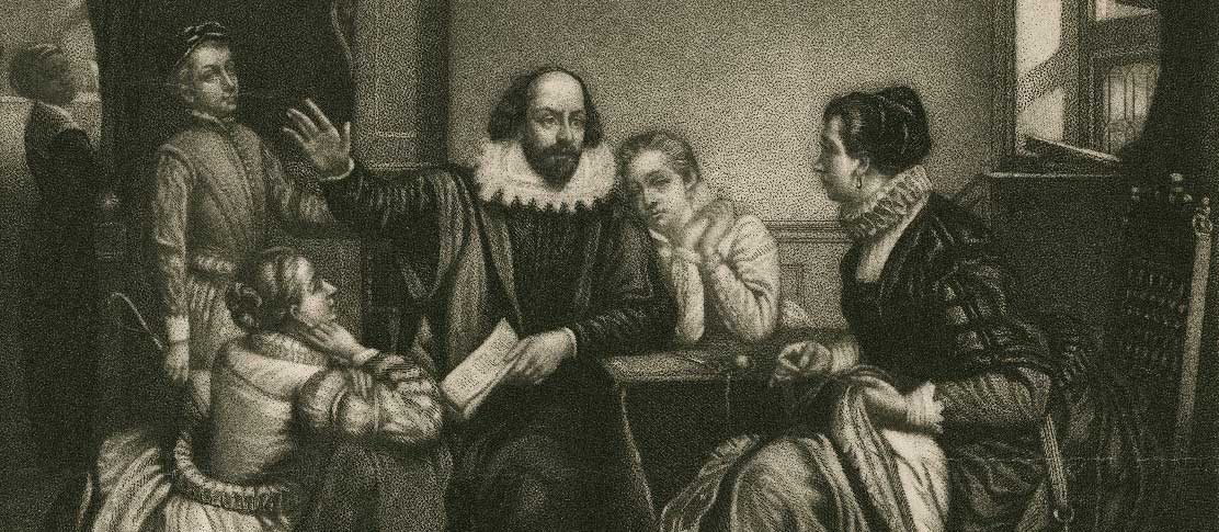 Shakespeare with his family