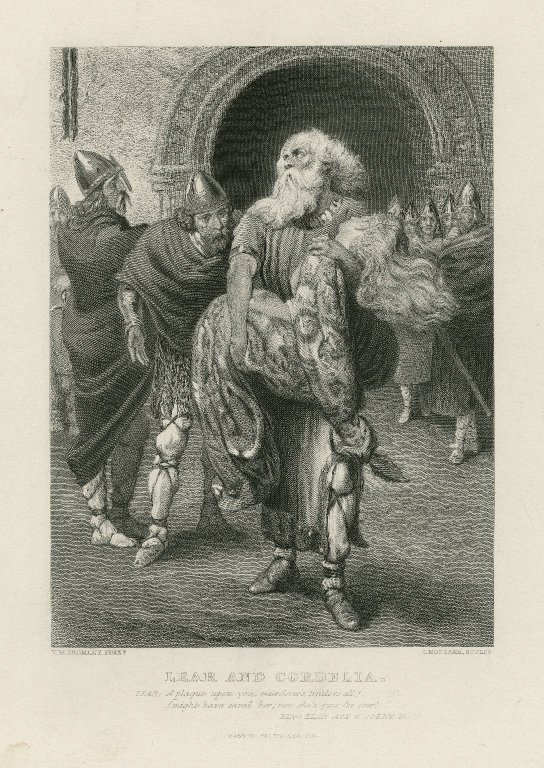 Lear carrying the dead Cordelia (Act 5, scene 3; 19th century)