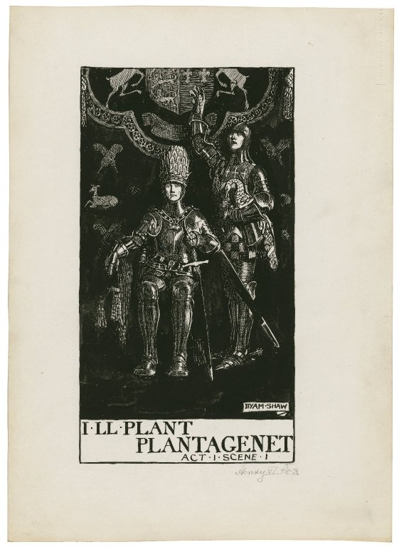 Byam Shaw's illustration of the opening of the play (Act 1, scene 1; 1900)