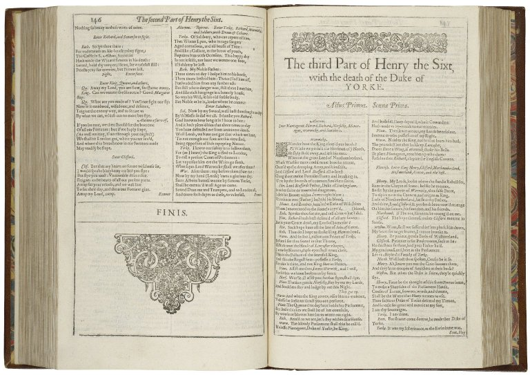 Beginning of 3 Henry VI in the First Folio