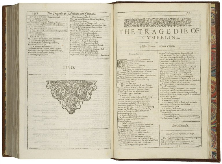 opening of Cymbeline in the First Folio